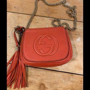 Gucci Soho orange chain crossbody